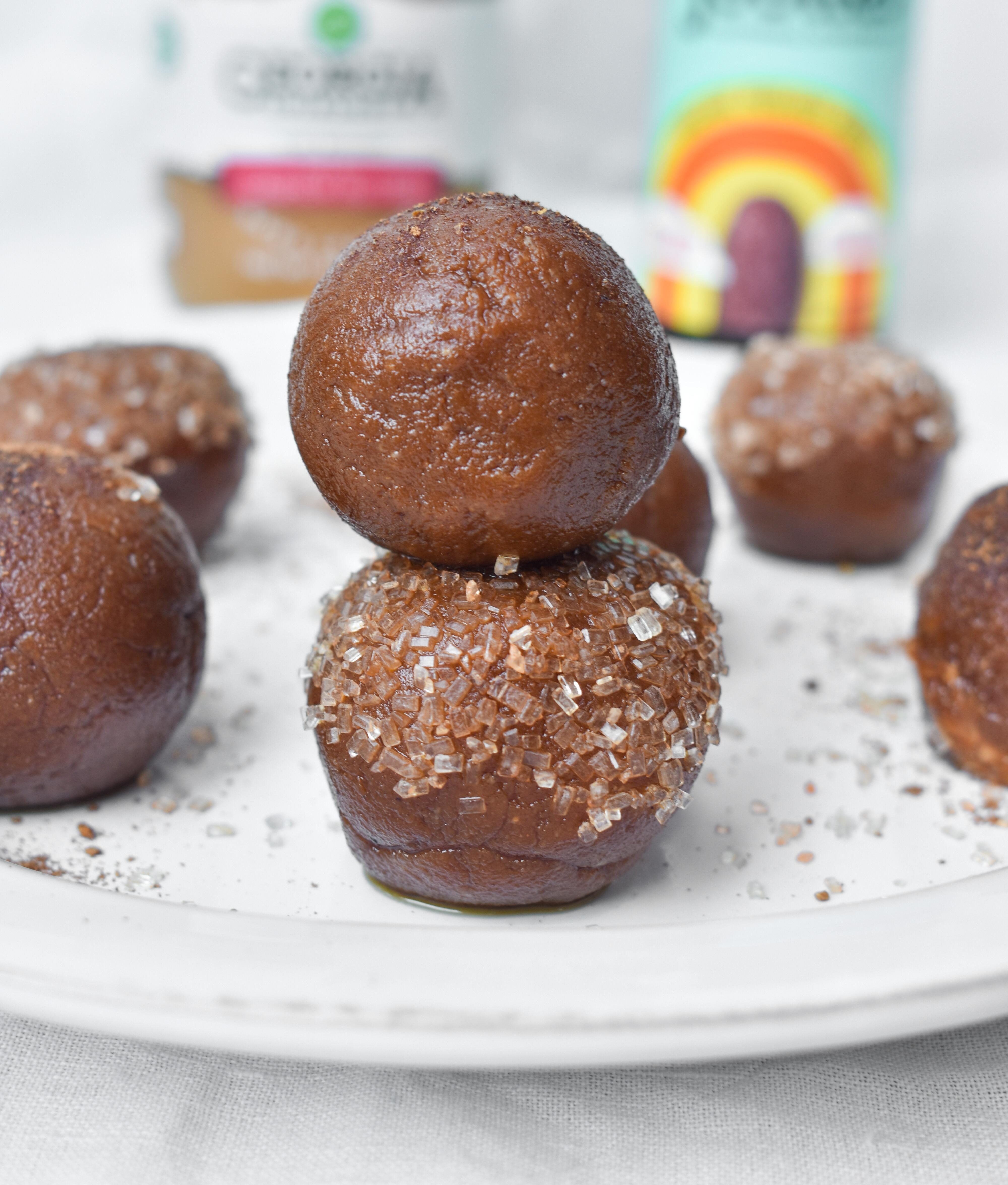 Pumpkin Cookie Dough Truffles